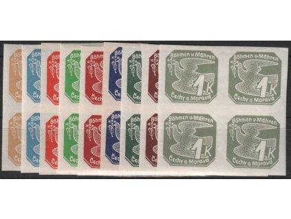 1939, 2h-1K Novinové I, série, 4bloky, Nr.NV1-9, **