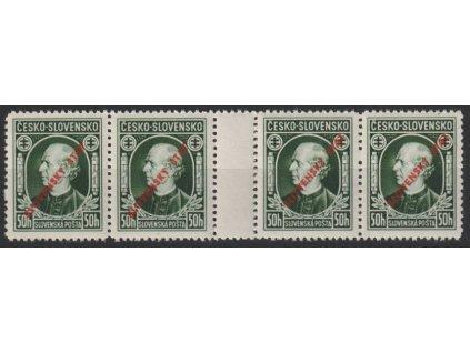 1939, 50h Hlinka, 4známkové meziarší, Slov.spec.Nr.S23A, **, ilustrační foto