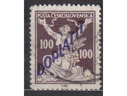 100h hnědá, Řz.13 3/4, Nr.DL53B, razítkované