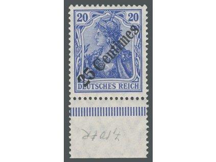 Turecko, 1908, 25C/20Pf Germanie, MiNr.50, **