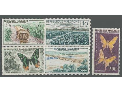 Madagaskar, 1960, 30, 40-500Fr letecká série, **