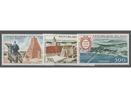 Mali, 1961, 100-500Fr letecká série, MiNr.26-28, **/*