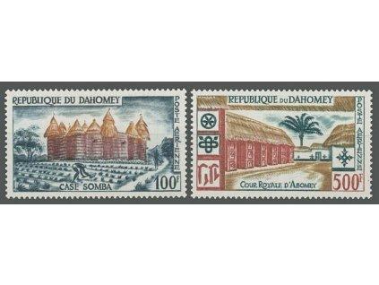 Dahomey, 1960, 100-500Fr letecká série, MiNr.173-74, **