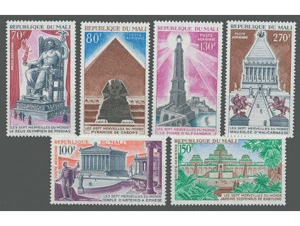 Mali, 1971, 70-270Fr letecká série, MiNr.301-6,307, **