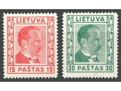 Lietuva, 1936, 15 a 30C Smetona, **
