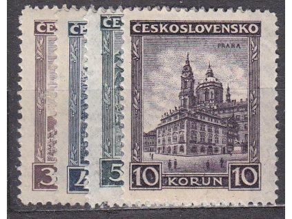 1929, 3-10Kč série Města, série, Nr.254-7, **, ilustrační foto