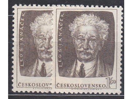 1.60Kčs Janáček, hnědá a šedohnědá, Nr.739a,b, **