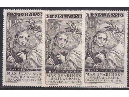 1958, 1.60Kčs Švabinský, typ I,II,III, Nr.1013, **