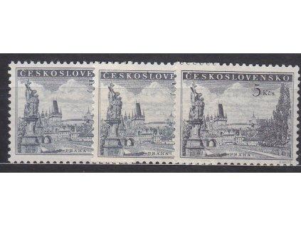 1953, 5Kčs Praha, 3 ks - odstíny, Nr.742a,b,c, **