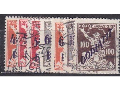 1927, 40/185h-100/25h série, Nr.DL48-54, razítkované, ilustrační foto