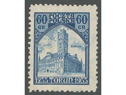 1933, 60Gr Radnice, MiNr.279, * po nálepce