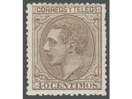 1879, 40C Alfons, MiNr.181, * po nálepce