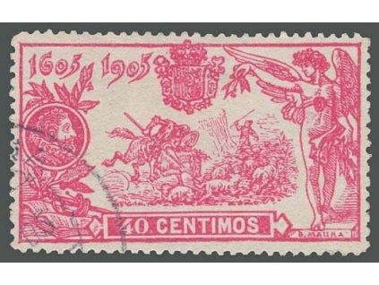 1905, 40C Don Quijote, MiNr.225, razítkované