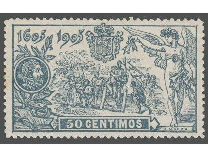 1905, 50C Don Quijote, MiNr.226, * po nálepce