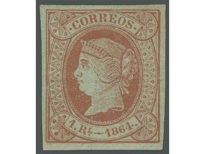 1864, 1 R Isabella, MiNr.59, těžká *