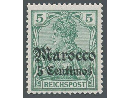 Maroko, 1905, 5C/5Pf Germanie, MiNr.20, **