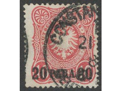 Turecko, 1884, 20PA/20Pf Orel, MiNr.2, razítkované, dv