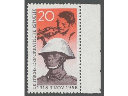 1958, 20Pf Voják, MiNr.662, ** , lehké faldy