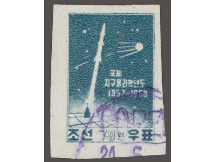 Korea-Nord, 1958, 70W Kosmos, MiNr.144B, razítkované