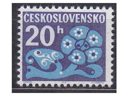 1971, 20h Doplatní, papír oz, Nr.DL93, **, nejvzácnější papír této emise