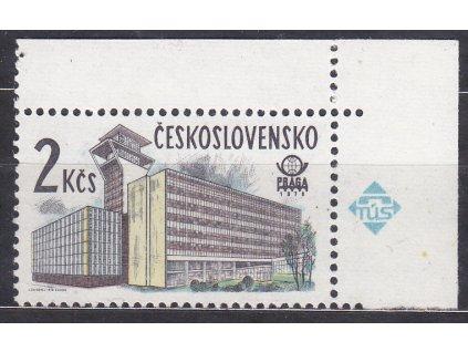1978, 2Kčs Nová Praha, papír oz, rohový kus, Nr.2331xb, **