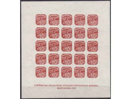 1937, Novinový aršík, celkové dobové falzum, Nr.ANV18, **