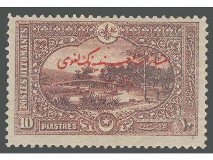 1914, 10 Pia hnědá, MiNr.258, těžší * , lehké výrobní faldy