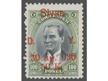 1930, 50 K / 100 K s přetiskem Sivas, MiNr.932, neznatelná *