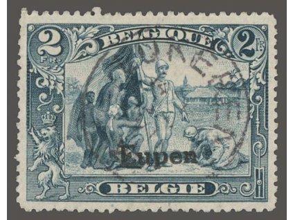 1920, Eupen, 2Fr s přetiskem Eupen, MiNr.12, razítkované, dv