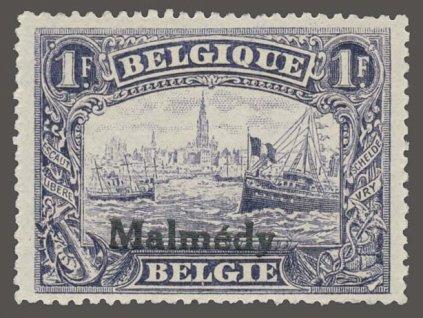 1920, Malmédy, 1Fr s přetiskem Malmédy, MiNr.11, **