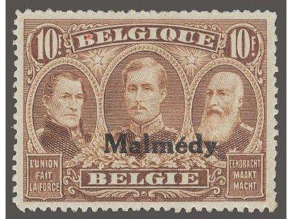 1920, Malmédy, 10Fr s přetiskem Malmédy, MiNr.14, **