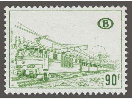 1972, 90Fr Eisenbahnpaketmarken, MiNr.348, **