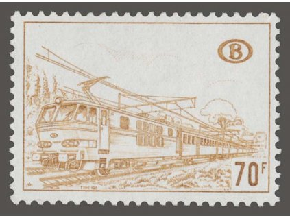 1972, 70Fr Eisenbahnpaketmarken, MiNr.347, **