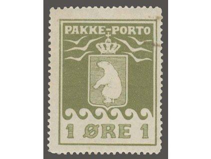 Grónsko, 1915, 1Q Medvěd, MiNr.4A, ** , skvrnka v rohu