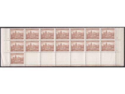 1939, 20K Praha, dolní 3pás, hvězdička, Nr.40, **dv, lehce povolevo v perforaci