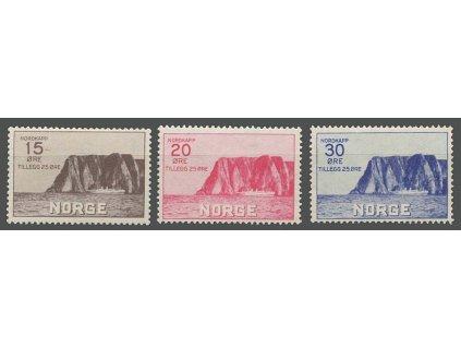 1930, 15-30Q série Nordkap, MiNr.159-61, * po nálepce