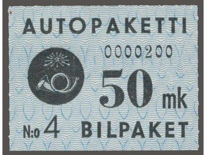 1949, 50 M Auto-Paketmarken, MiNr.4, **