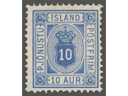 1876, 10A služební, MiNr.5Bb, * po nálepce