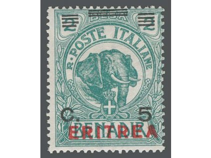 Eritrea, 1924, 5C/2B Slon, MiNr.84, * po nálepce