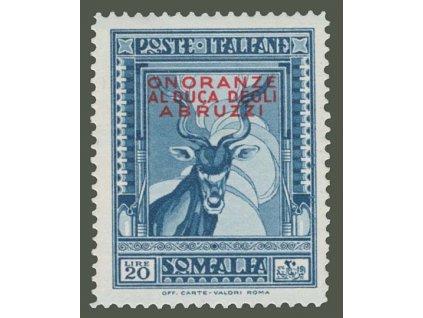 Somalia, 1934, 20L s přetiskem, MiNr.195, * po nálepce