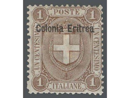 Eritrea, 1897, 1C Znak, MiNr.12, * po nálepce