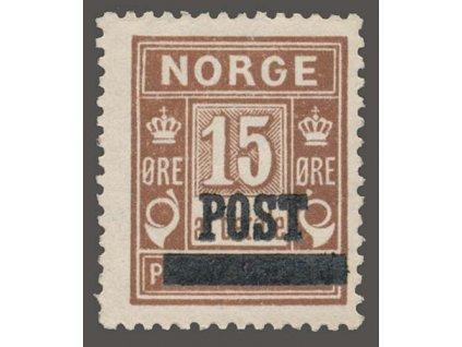 1929, 15Q hnědá, MiNr.145, **