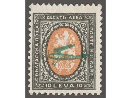 1927, 10L letecká, MiNr.209, * po nálepce