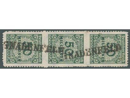 1923, 50 Mio M zelená, 3páska, razítko GNADENFELD, dv