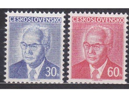 1975, 30-60h Husák, papír fl1, Nr.2165-6ya, **