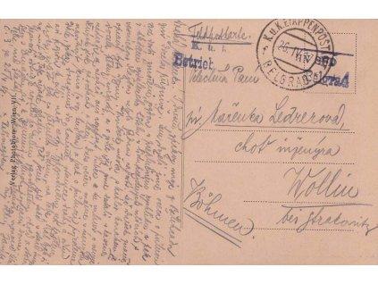 Belgrad f, pohlednice zaslaná v roce 1917 do Volyně, hezké