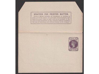 Ceylon, 1899, novinová páska 2C Viktoria, nesložená, neprošlá
