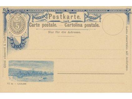 1894, obrazová dopisnice 5C, neprošlá