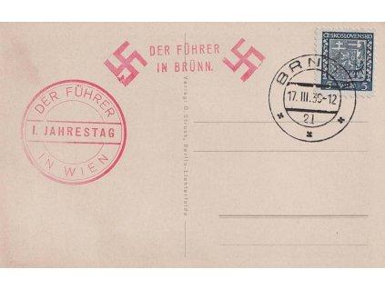 1939, Brno 17.3.1939 + Der Führer in Wien, pohlednice