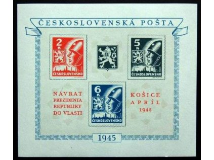 1945, 2-6K Košický aršík, Nr.A360/362, **